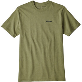 Patagonia Splitter Shaka t-shirt Heren olijf